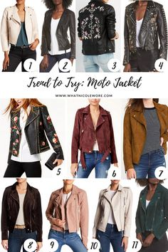 Trend Worth Trying: 2 Ways to Wear a Moto Jacket // best moto jackets under $50, fall fashion must haves, best jackets for fall, embellished moto jacket, best old navy pieces for fall 2017