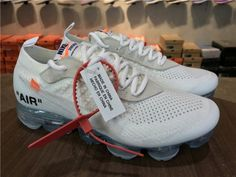 the latest bcdc4 04f01 Off White X Nike Air Vapormax Flyknit Fk Off White X 100 White Total  Crimson Black Cheap Priced Shoe