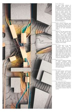WFSmith Architecture : Photo Cool painting on top of model.  Photographing a 3d object certainly creates tons of depth!: