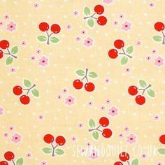 Bake Sale Fabric, Yellow Cherries