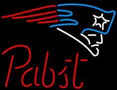 Pabst New England Patriots NFL Beer Neon Sign, Pabst with NFL Neon Signs | Beer with Sports Signs. Makes a great gift. High impact, eye catching, real glass tube neon sign. In stock. Ships in 5 days or less. Brand New Indoor Neon Sign. Neon Tube thickness is 9MM. All Neon Signs have 1 year warranty and 0% breakage guarantee.