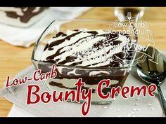 Die Bounty Creme ist ein fantastisches Low-Carb Dessert. Wer Kokosnuss und das Low-Carb Bounty liebt, muss diese locker leichte Creme probieren.