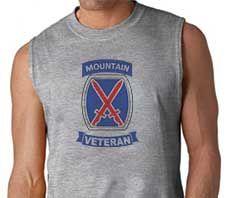 Army 10th Mountain Division Veteran Sleeveless Shirt