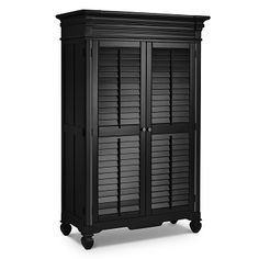 Plantation Cove Black Bedroom Armoire - Value City Furniture Black Kids Furniture, Full Bedroom Furniture Sets, Bedroom Ideas, Affordable Home Decor, Cheap Home Decor, White Armoire, Black Dressers, Dark Wood Cabinets, Value City Furniture