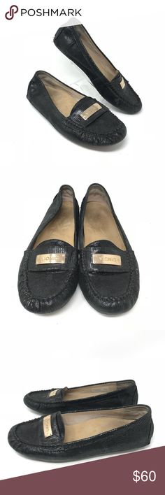 18b09b84341 Vionic Sydney 8 Black Leather Orthaheel Loafers Vionic Womens Sydney 8 Black  Snake Leather Orthaheel Loafers Driving Mocs Flats Great condition as shown  ...
