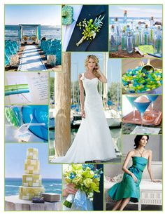 Green, Blue, Inspiration, Board, Seaside, Lime, Jim hjelm occasions, Destinations by maggie sottero