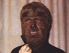A real color photo of Lon Chaney, Jr. as the Wolf Man!