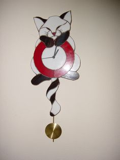 Cat clock  made by Job Kiers