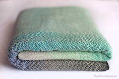 Heartiness Delta Blue-turquoise Natural Wrap (silk)