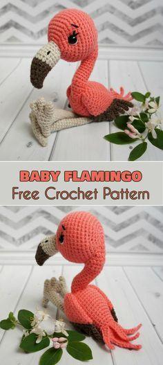 Baby Flamingo Amigurumi Bird Free Crochet Pattern Softie Ami Toys