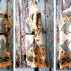 Платье-кафтан из шелковых платков