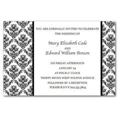 Printable Personalized Invitations Wedding Anniversary Engagement Damask Monogram Baby Bridal Shower Birthday 21st 30th 40th 50th 60th