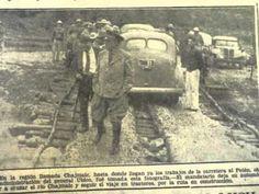 Jorge Ubico...listo para inspeccionar de cerca la carretera del Petén en el area Del Río Chajmaic .