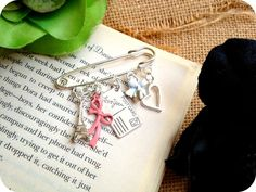From Paris with Love Kilt Pin Brooch - Eiffel Tower, Heart, Bow, Postcard, Pink £7.50