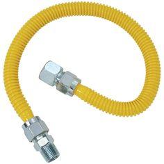 BRASSCRAFT CSSC24-48 Gas Range & Gas Furnace Flex-Line (5-8 OD (3-4 FIP x 1-2 MIP) x 48)
