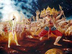 Waldorf ~ 5th grade ~ Ancient India ~ The Ramayana ~ Lord Rama Conquers Ravan ~ main lesson book