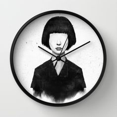 what you see is what you get by Balazs Solti  WALL CLOCK/ NATURAL BLACK $30.00