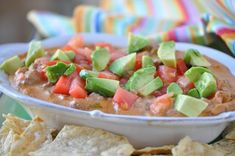 Holly Clegg's Terrific Tailgating Taco Dip | At This Mama Cooks! On a Diet - thismamacooks.com