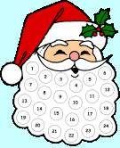 FREE Santa Advent Calendar Craft - Advent Calendar for Kids - Kaboose.com