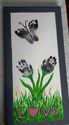 Cute idea, but would use color paint for prints