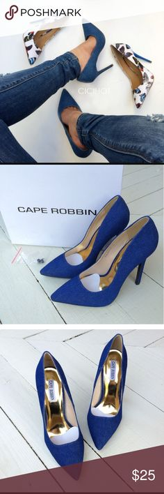Denim pumps Very cute comfy and fashionable shoes new without tags Shoes Heels