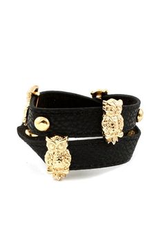 Owlette Charm Bracelet in Jet