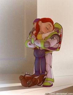 Jessie and Buzz Lightyear - Toy Story. I don't ship this but it's still cute Disney Pixar, Disney Fan Art, Deco Disney, Disney Toys, Disney And Dreamworks, Disney Animation, Disney Movies, Walt Disney, Disney Characters