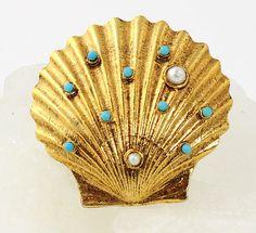 Vintage Designer Signed ART  Figural Brooch  Jewel by RefinedRetro, $33.00
