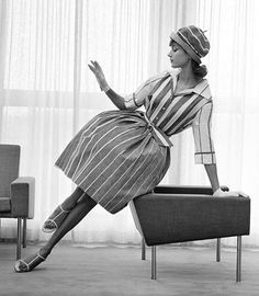 striped dress | photo Georg Oddner 1958