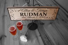 Established Sign Personalized Gift Custom by NicheWood on Etsy Custom Wooden Signs, Established Sign, Personalized Signs, Wedding Anniversary Gifts, Wedding Signs, Handmade, Etsy, Personalised Signs, Wedding Plaques