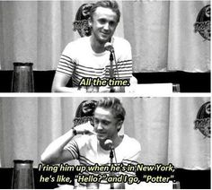 Tom Felton calling Daniel Radcliffe