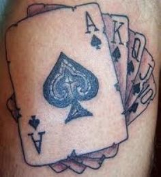 Things to put in it #4 - playing cards. Scattered around the tattoo. All hearts (obviously!)