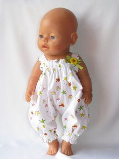 """Photo from album """"Летние костюмы"""" on Yandex. Crochet Doll Clothes, Doll Clothes Patterns, Clothing Patterns, Teddy Clothing, Baby Born Kleidung, Baby Born Clothes, Dress Sewing Tutorials, Baby Doll Accessories, Baby Alive"""