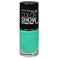 This could be part of your perfect game day manicure!  Show your team spirit off every time you high five!  Maybelline Color Show Nail Lacquer Tenacious  Teal.