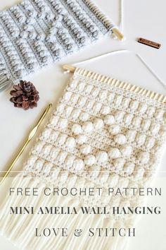Diy Crochet Wall Hanging, Crochet Wall Hangings, Crochet Stitches Patterns, Crochet Chart, Free Crochet, Knitting Designs, Knitting Projects, Crochet Projects, Crochet Ideas
