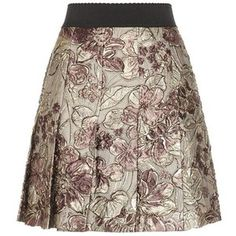 Dolce & Gabbana Metallic Jacquard Pleated Skirt