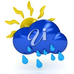iCLIPART - Weather symbol over white background. 3d computer generated image