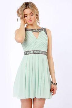 Mint Green Dress - Beaded Dress #mint #green #dress www.loveitsomuch.com