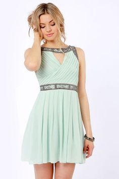 Daily Showdown Lace Mint Green Dress | Products, Lace and Dresses