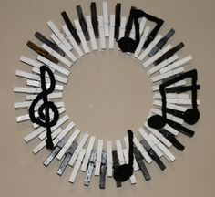 Music Wreath Piano Keys Wreath Musical by GlitterGlassAndSass