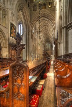 Choir Stalls in Southwark Cathedral in London.