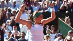 Unseeded Jelena Ostapenko fought back to stun third seed Simona Halep and become Latvia's first Grand Slam champion at the French Open. The 20-year-old trailed by a set and was 3-0 down in the second to Halep - who would have become world number one with a win - but prevailed 4-6 6-4 6-3. Ostapenko, ranked 47th, had never won a Tour-level title before and was playing in only her eighth Grand Slam. She is the first unseeded woman to win at Roland Garros since 1933.