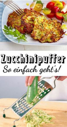 Zucchini Buffer – the simple recipe Simply made and really delicious: ours for zucchini buffers! The post Zucchini Buffer – the simple recipe appeared first on Woman Casual - Food and drink Soup Appetizers, Appetizer Recipes, Snack Recipes, Dinner Recipes, Burger Recipes, Doce Light, Zucchini Puffer, Vegetarian Recipes, Healthy Recipes