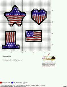 FLAG MAGNETS by DAWNMARIE ABEL