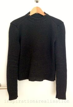 DIY Jumper - Details inspired by Jil Sander for this FREE PATTERN on Inspiration and Realisation