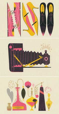 fun fashion illustrations via @designlovefest (via TREASURE HUNTERS | D E S I G N L O V E F E S T)