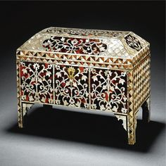 An Ottoman tortoiseshell and mother-of-pearl scribe's cabinet, Turkey, late 18th century | Lot | Sotheby's