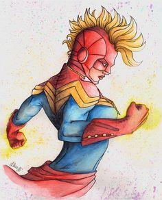 Captain Marvel-Carol Danvers by PreyaStarle