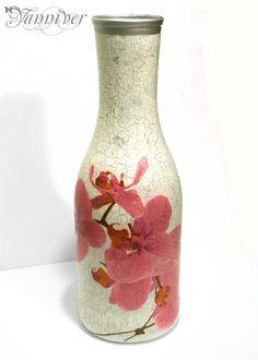 Decoupage Vase Orchid