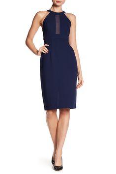 Chiffon Contrast Midi Dress by BCBGeneration on @nordstrom_rack